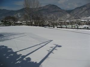 雪の日の病院