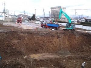 新棟建設が始まって1