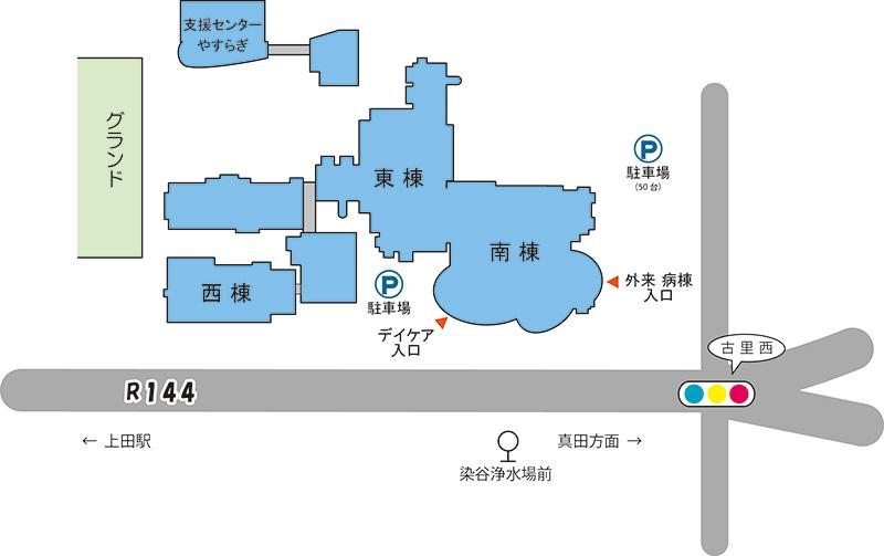 千曲荘病院 施設概要図